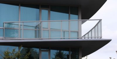 Railcraft aluminium railings in a commercial application.